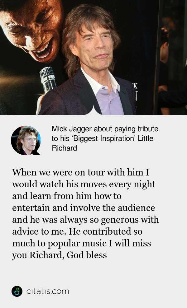 mick jagger idézetek Mick Jagger Quotes and Sayings | Citatis